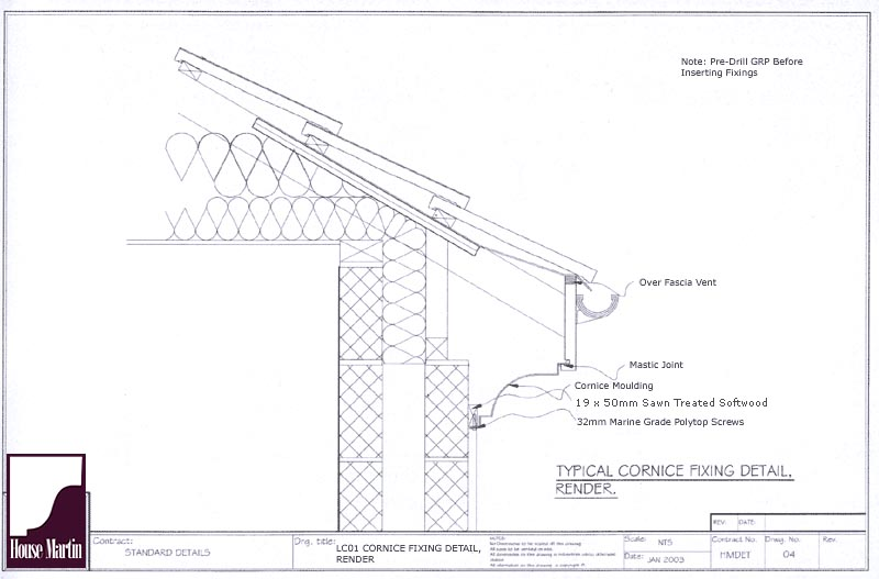 House Martin Construction Grp Cornice Lable Moulds And