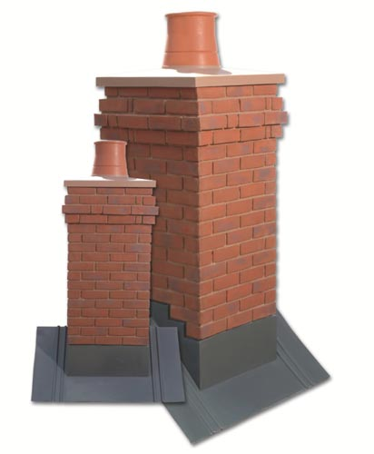 Brick Chimney Top Designs : House martin construction lightweight brick effect and