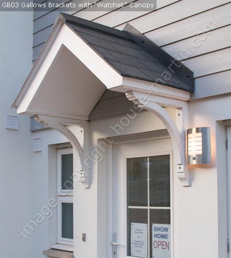 House martin construction gallows brackets and porch House brackets